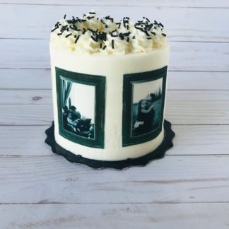 Father's Day cake, buttercream icing, picture cake