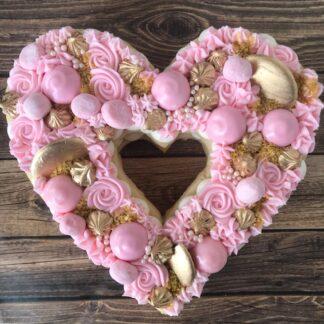 sugar cookie heart, valentines day
