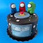 among us cake, kids cake