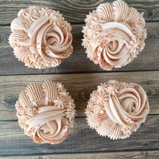 rose gold, mothers day cupcakes